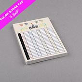 Custom Score Pad Medium Size Full Printing