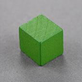 12mm Wooden Cube Green