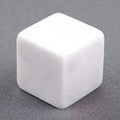25mm Plain Dice Straight Corners