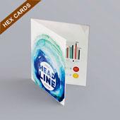 Bi-Fold Booklet For Hex Card 3.25