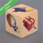 Custom Wooden Dice 30mm Straight Corner