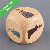 Custom Wooden Dice 30mm Round Corner