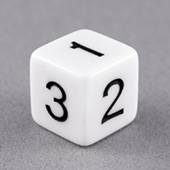 16mm Standard Number Dice