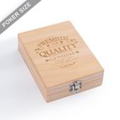Custom Wooden Box For Single Deck Engraved