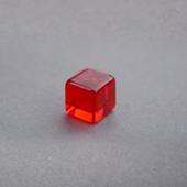 Plastic Cube Red 8mm