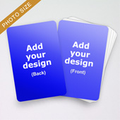 Custom Photo Size Game Cards (101.6×152.4mm)