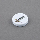 double-sides Custom Game Tokens 20mm x 5mm white