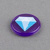 18mm Custom Crystal Plastic Token Purple