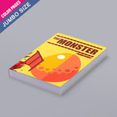 Custom Jumbo Size Perfect Bound Booklet With Colored Pages (Up To 192 Pages)