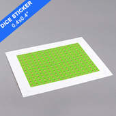 Square Sticker For 16mm Dice