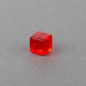 Plastic Cube Red 10mm