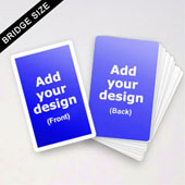 Custom Bridge Size Cards (White Border)