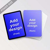 Custom Black Border Playing Cards Poker Sized 2.48x3.46