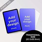 Custom Black Border Poker Sized Cards