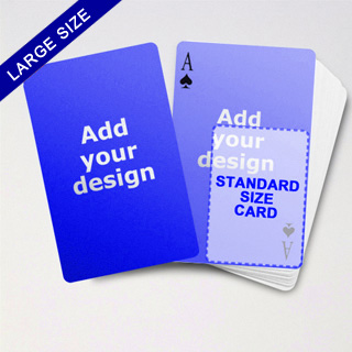 Large Playing Cards Series Double Face Poker Cards