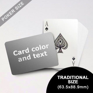 Classic Choice Poker With Custom Message (Landscape) (63.5 X 88.9mm)