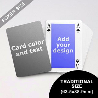 Classic Bridge Style Poker Size Personalized Both Sided Playing Cards (63.5 X 88.9mm)