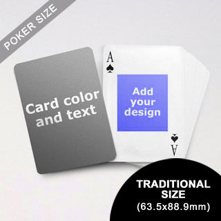 9) Centre Portrait Photo Personalized Both Sided Playing Cards (63.5 X 88.9mm)