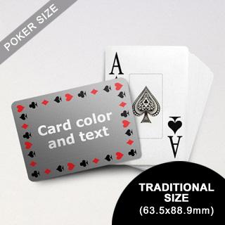 Timeless Frame Poker With Custom Text & Jumbo Index (Landscape) (63.5 X 88.9mm)