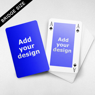 Bridge Size Playing Cards Rectangular Back, 4 Index