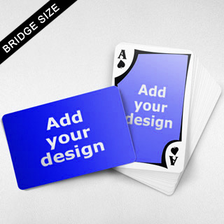 Bridge Size Playing Cards Frame Back, Wide Angled Front