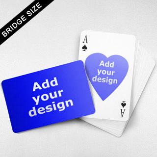 Bridge Size Playing Cards Heart Back