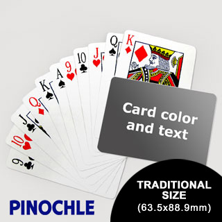 Pinochle With Personalized Message (Landscape) (63.5 X 88.9mm)