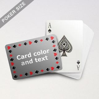 Timeless Frame Poker With Custom Message (Landscape)