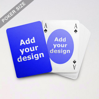 Ovate Bridge Style Poker Size Custom Front And Back Playing Cards