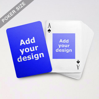 Centre Portrait Photo Custom Front And Back Playing Cards
