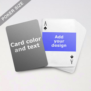 Landscape Photo Personalized Both Sided Playing Cards