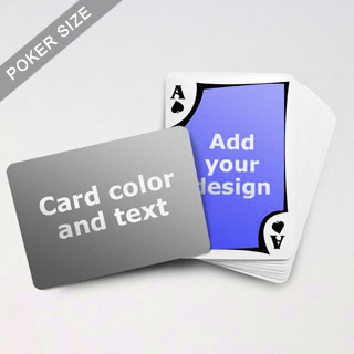 Modern Personalized Both Sided Landscape Back Playing Cards
