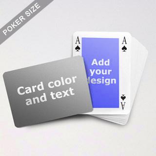 Classic Bridge Style Poker Size Personalized Both Sided Landscape Back Playing Cards
