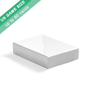 Plain Rigid Box For 60 US Game Size Cards