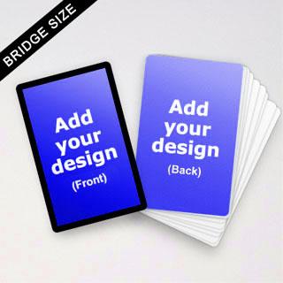 Custom Bridge Size Cards (Black Border)