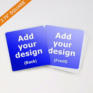 2.75 inch Square size cards