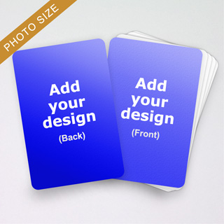 Photo size cards